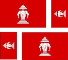 4 x adesivo adesivi sticker bandera moto auto bandiere vinyl laos antico