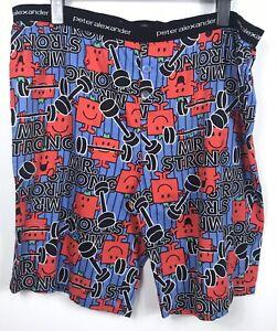 Peter Alexander Mr Men Mr Strong Shorts - Size XL