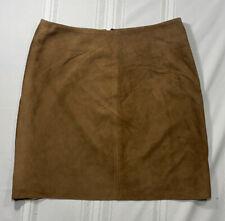 RALPH LAUREN SPORT Skirt Sz 2 Brown Leather Mini