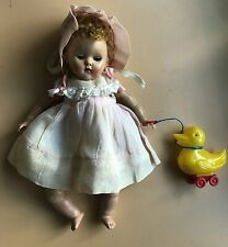 1952 Vogue Ginny Crib Crowd Poodle Doll with Caracul Wig