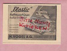 FRANKFURT/M., Werbung 1941, M. Vogel AG Elastic Heftmaschinen