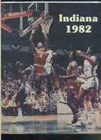 1982 Indiana Hoosiers Basketball yearbook media guide NCAA MBX20