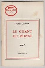 PEC Fiche de lecture Jean Giono Le chant du monde