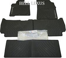 LEXUS OEM FACTORY ALL WEATHER 5-PIECE FLOOR MAT SET 2013-2018 LX570 BLACK