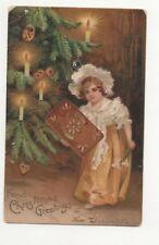 Vintage Christmas Greetings Postcard 1906