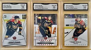 3 CARD LOT - 2014-15 ITG In The Game - Connor McDavid - Rookie - GMA 10 Gem Mint