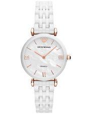 New Emporio Armani AR1486 White Ceramic Bracelet Ladies Watch in Original Box
