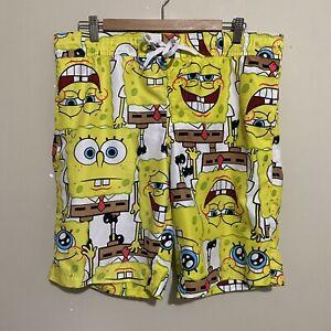 Spongebob Squarepants Nickelodeon Board Shorts Swim Surf Mens Large