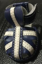 New Wag A Tude Dog Shoes/Sandals Blue/White Medium