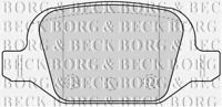 Set Pastiglie Freni Posteriori Borg & Beck per Abarth 500/595/695 1.4 132KW