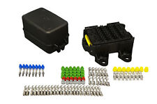 MTA Waterproof sealed Fuse and Relay holder box Panel for 18 fuses and 4 relays