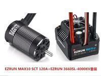Hobbywing EZRUN MAX10 SCT 120A Brushless ESC + 3660SL G2 Motor Set for 1/10 Car
