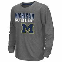 Michigan Wolverines YOUTH Campus Heritage Long Sleeve Tee - FREE SHIPPING!