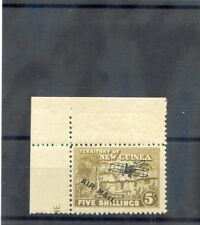 New Guinea Sc C11(Sg 147)*F-Vf Nh 1931 5Sh Olive Bistre, Corner Margin $80
