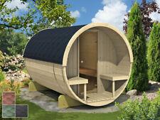 Finn Art Fasssauna Lasse 1 Bausatz 250/204 Gartensauna Außensauna Saunafass