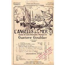 L'ANGELUS DE LA MER Chant GERMINAL Poésie Léon DUROCHER musique Gustave GOUBLIER