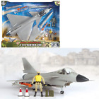 World Peacekeepers J-10 Fighter Jet Military Army Airplane Toy -- 1:18 Scale