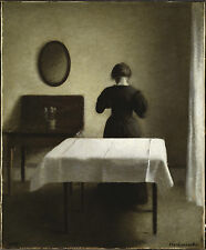 Vilhelm Hammershoi, Interior 1898 Art Print 10x8 inches reproduction