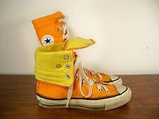 Vtg CONVERSE Chucks All Star Orange High Top Shoes Sneakers Men's Kicks Size 4.5