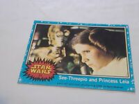 1977 Topps Star Wars #51 See-Threepio And Princess Leia Trade Card