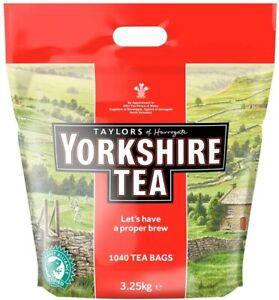 Yorkshire Tea Bags 3.25 Kg (1040 tea bags) UK