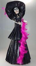 Catrina Mexican Doll Day of Dead Paper Mache Dia de los Muertos Folk Art 101XL