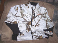 Mens 2X Snow Camo Jacket Non Insulated Hunting Coat Windproof Realtree Camo Coat