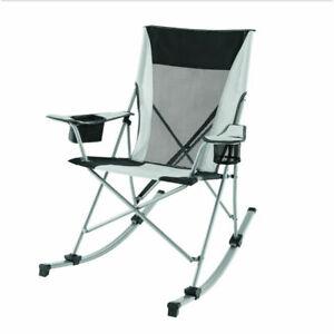 Folding Rocking Chair White 2 In 1 Outdoor Camping Portable Fishing Rocker Seat