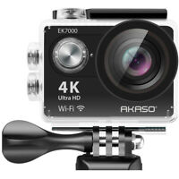 Akaso EK7000 4K WIFI Waterproof Sports Action Camera 170 Degree Wide - Blk