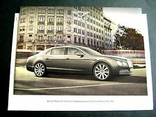 Bentley Flying Spur-UK 2013 LANZAMIENTO FOLLETO con Mailer