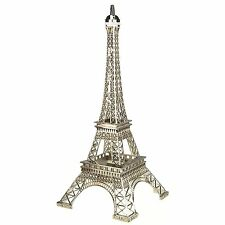 "20"" Tall Giant Paris France SILVER Metal Eiffel Tower Stand Model Table Decor"