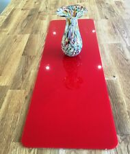 Rectangle Table Runner / Protector in Red Gloss Finish Acrylic 3mm