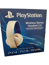 Official Sony PlayStation PS4 PS3 PSVita Wireless 7.1 Stereo Headset 2.0 (White)