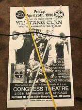Wu Tang Clan RARE Chicago 1996 Tour Poster Ol Dirty Bastard Vintage Rap Hip Hop