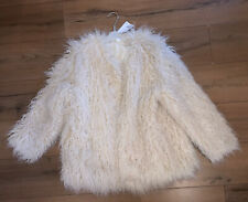 H&M Faux Fur Jacket Cream New With Tags Large