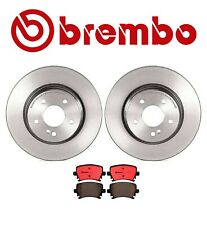 For Audi A4 Quattro Brembo Rear Disc Brake Kit Ceramic Pads Coated Disc Rotors