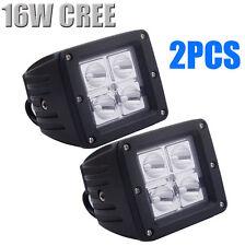 2x 16W Cree LED Work Light Bar Driving Lamp Flood Truck Offroad UTE 4WD ATV SUV