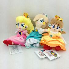 "3X Super Mario Bros Princess Peach Daisy Rosalina Plush Toy Stuffed Animal 7"""