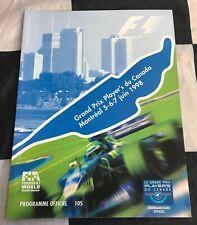 1998 MONTREAL CANADIAN GP F1 RACE PROGRAMME MICHAEL SCHUMACHER WIN FISICHELLA