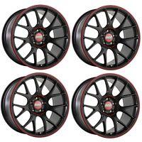 "4 x BBS CH-R Nurburgring Satin Black Alloy Wheels - 5x120|19x9.5""|ET35|82mm CB"