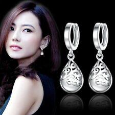 UK Womens Mens 925 Sterling Silver Small Round Hoop Huggie Sleeper Stud Earrings