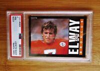 1985 Topps #238 JOHN ELWAY Denver Broncos PSA 7
