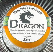 Men's DRAGON Smoke Bonfire Scent Shave Soap, Puck Glycerin Bar USA Made Smokey