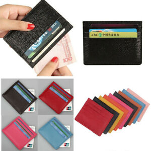 PU Leather Anti Scan ID/ Credit Card Holder RFID Block Front Pocket Wallet