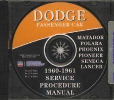 DODGE 1960-1961 Car Shop Manual CD, 60-61