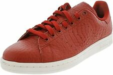 Adidas S80028 Men Red/White Leather & Synthetic Stan Smith Lace Up Sneaker 8 US