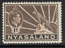 NYASALAND sg131 1938 1d Brown MTD Nuovo di zecca