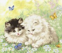 New Cross Stitch Embroidery Kit by LETISTITCH 954 Fluffy Kittens