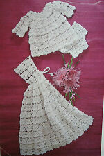 Baby's Cape, Dress and Knickers Crochet Pattern