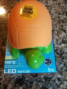 Sylvania Orange and green LED turtle night light new in box